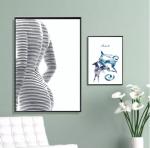 Tạo không gian cuốn hút bằng tranh treo phòng khách sang trọng