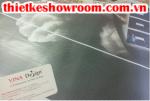 [In ấn trang trí showroom] In decal lưới dán kính cho cửa hàng vật dụng thể thao