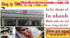 [In ấn trang trí showroom] In backlit film làm hộp đèn quảng cáo cho showroom áo cưới