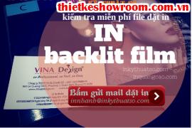 [In ấn trang trí showroom] Nhận in backlit film trang trí showroom