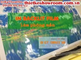 In backlit film giá rẻ, làm phông nền quầy lễ tân