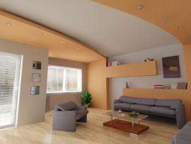 Trang trí showroom rẻ đẹp với trần thạch cao