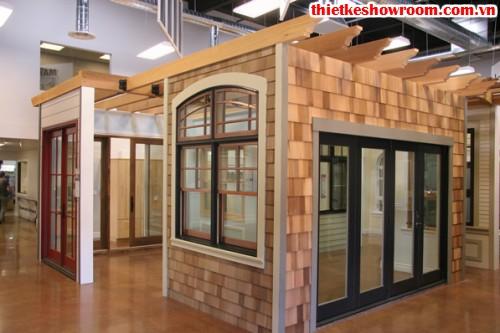 Showroom trưng bày vật liệu xây dựng đẹp