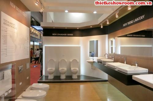 Showroom trưng bày vật liệu xây dựng đẹp, sản phẩm gạch men